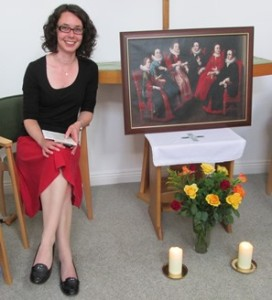 29-year-old Dr Theodora Hawksley, who is training to be a nun with the Congregation of Jesus.