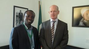 Misean Cara Development Mentor for Western Africa Michael Osei Nkrumah, and Ambassador of Ireland to Nigeria Sean Hoy. Photo: Misean Cara.