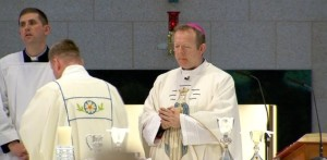 Archbishop Eamon Martin celebrates Mass in Knock. Pic courtesy RTE News