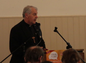 Church of Ireland Primate of Ireland, Archbishop Michael Jackson, addressing the 'Thinking Allowed' event in All Hallows. Pic: Lynn Glanville