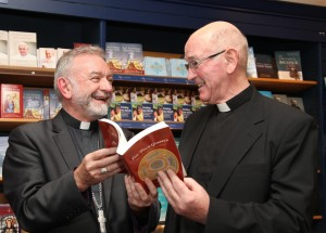 Archbishop Kieran O'Reilly and Fr Maurice Hogan SSC at the launch of 'The Four Gospels: Following in the Footsteps of Jesus'