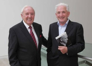RTE broadcaster Bill O'Herlihy with silenced priest Fr Tony Flannery at the launch of 'A Question of Conscience' in September 2013. Photo: Mark Stedman/Photocall Ireland