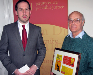 Eoin Carroll and Fr John Guiney of the Jesuit Centre for Faith and Justice.