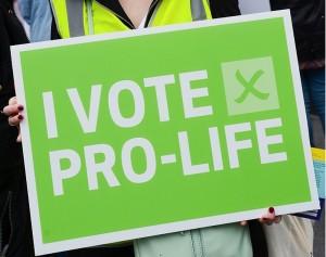 I vote pro life