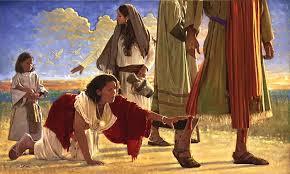 Jesus and bleding women