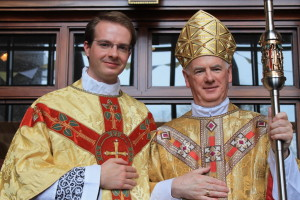 Fr Andrew Black was ordained at St Columcille's Church in Holywood by Bishop Noel Treanor. Pic courtesy: Down and Connor.