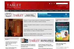 The Tablet website