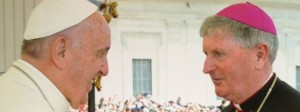 Bishop Michael Smith meets Pope Francis at last Wednesday's general audience in St Peter's Square.