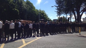 Funeral of Eoghan Culligan at the Church of the Annunciation Rathfarnham. Pic courtesy: www.rte.ie