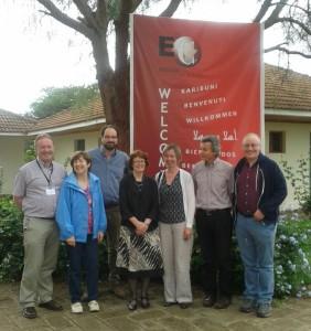 Irish delegates at the EoC conference, Nairobi