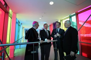 Archbishop Diarmuid Martin, Taoiseach Enda Kenny, President Daire Keogh and Archbishop Michael Jackson at the official opening of St Patrick#s College Drumcondra's new campus development. Pic courtesy: ST Patrick's College.