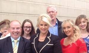 Bernadette Smyth and supporters outside court following her acquittal on 29 June 2015.
