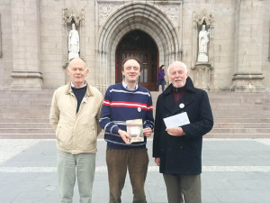 Delegation from Faith in Marriage Equality in Armagh to meet the Primate. (L to R) Jim O'Crowley from Gay Catholic, Dr Richard O'Leary, from Faith in Marriage Equality and Brendan Butler of We are Church Ireland.