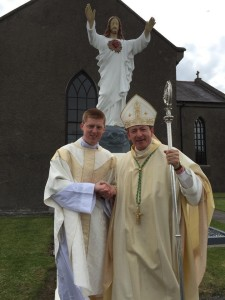 Fr Shane O'Neill and Bishop Phonsie Cullinan