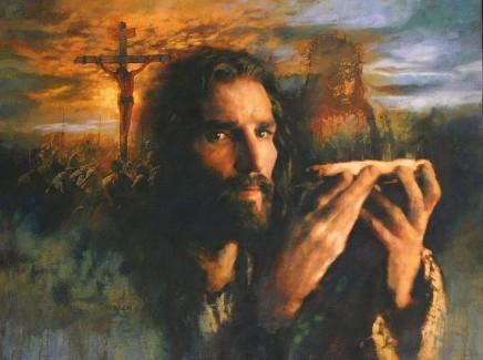 Jesus offering self