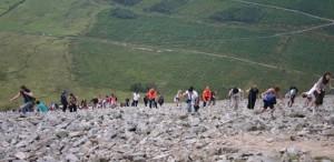 Pilgrims climbing Croagh Patrick