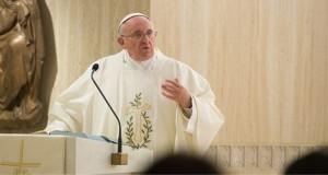 Pope Francis preaching at Santa Marta