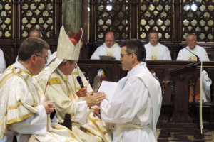 Bishop William Crean of Cloyne ordains Rev Eamon Roche.