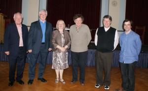 Dr Michael O'Sullivan, Dr Bernadette Flanagan, Dr James Finley and Dr Michael Howlett. Photo: Suzanne Ryder, rsm.