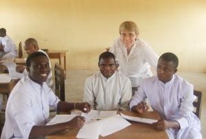 Sr Kathleen OLA teaching at the seminary in Kaduna in Nigeria. Pic: www.olaireland.ie