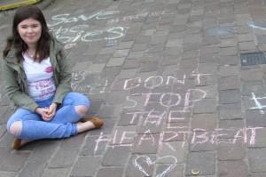 chalk on ground crop