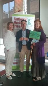 Karen Ward, Brigids Way, Eileen Kinch, St Kevins Way & Turtle Bunbury Historian at the Launch of National Heritage Week