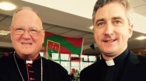 Cardinal Timothy Dolan, Archbishop of New York and Fr Richard Gibbons, Knock parish priest. Pic: courtesy RTE.