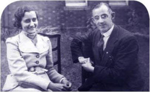 Frank Duff and Mary Everett,  Vice-President of the Senatus of India in 1936.