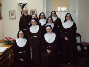 Poor Clare sisters with Cardinal O'Malley
