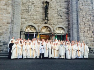 Galway Priests with Cardinal O'Malley after Jubilee Mass