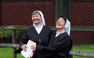 Srs Martina Purdy and Elaine Kelly of the Adoration Sisters. Pic: courtesy Irish Independent/Belfast Telegraph