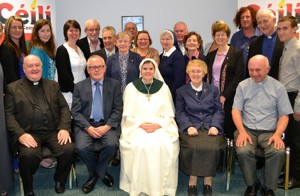 Profession day Sr Enda Maria O'Halloran with members & friends of the Céilí community