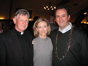 Fr Brendan McBride (l)
