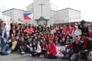 26/27 SEPT 2015 NATIONAL EUCHARISTIC CONGRESS 2015 IN KNOCK. Irish Catholic Bishops Conference is hosting the conference which will be a celebration of Faith over two days including prayer, daily celebration of Eucharist. Pic shows a large group originally from the Philippines at the National Eucharistic Congress on Sunday morning. The next International Eucharistic Congress will take place next January in Cebu in the Phillipines. Pic John Mc Elroy. NO REPRO FEE.