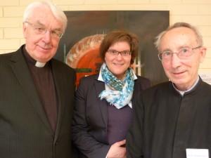 Fr Vincent Twomey svd (l) with Fr Professor Emeritus Stephan O. Horn, SDS, former Assistant to Professor Ratzinger and now spokesperson for the Schülerkreis (r) and Dr Michaela Christine Hastetter (c)