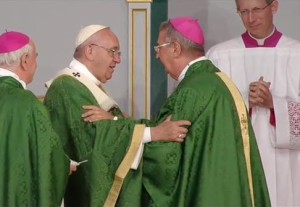 Pope Francis and Archbishop Diarmuid Martin in Philadelphia