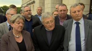 Rev Harold Good at Stormont last week. Pic: courtesy bbc.co.uk