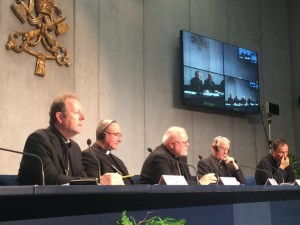 Archbishop Eamon Martin of Armagh at the Synod press conference in Rome on Wednesday.