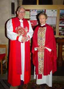 Bishop John Neill and Canon Ginnie Kennerley.