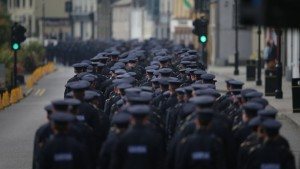 Funeral of Garda Anthony Golden in Blackrock Co Louth. Pic courtesy: RTE