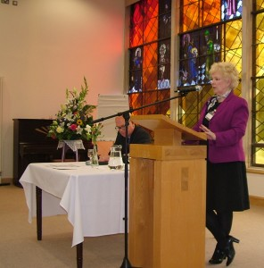 Nuala O'Loan addresses Irish Inter Church Meeting.