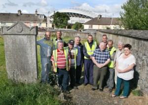 St Lelia's graveyard committee in Kileely