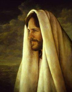 jesus looks lovingly
