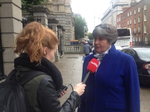 Ellen O'Malley Dunlop of the Dublin Rape Crisis Centre at Leinster House