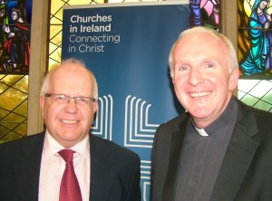 Rev Anthony Peck and Bishop Brendan Leahy at Irish Inter Church meeting.