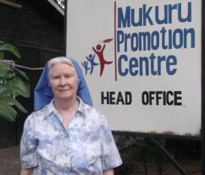 Sr Mary Killeen rsm of the Mukuru Centre in Nairobi.