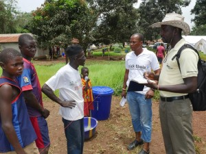People in Ebola quarantined homes tell local officials what they need to improve their welfare.