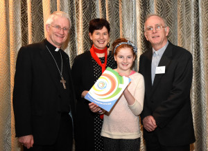 Bishop Ray Browne with Meabh Kieran McDonagh, Dr. Patricia Kieran of Mary Immaculate College, Limerick and Fr Ger Godley at the launch of the Be Christ's Joy Diocese of Kerry Pastoral Plan 2016-2020 at The Malton, Killarney on Monday. Photo by Michelle Cooper Galvin