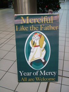 Sign for Mercy in Mall