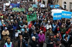 Climate march Dublin, 30th November 2015.